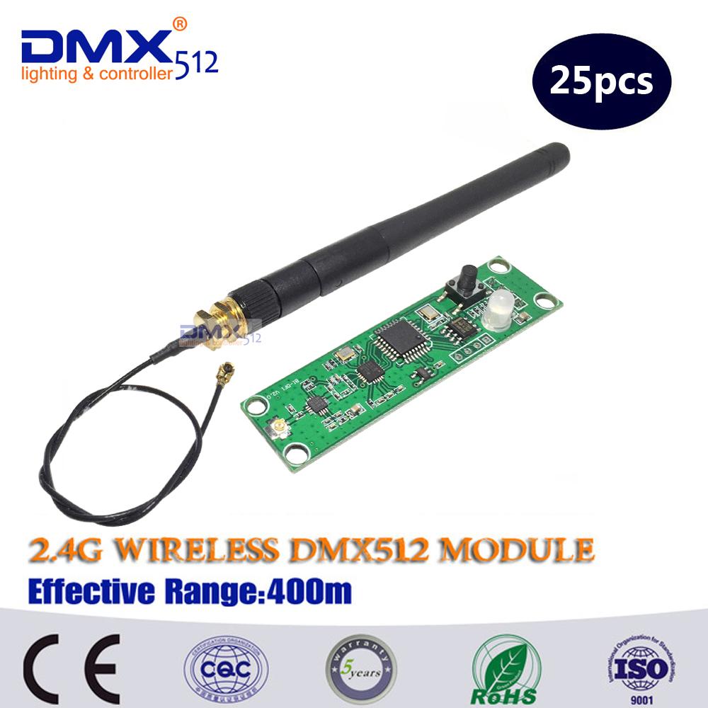Free Shipping wireless dmx pcb Wireless DMX Transmitter Receiver, Light controller(China (Mainland))