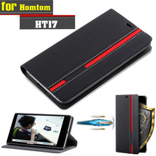 Buy New Homtom HT17 Case Ultra thin Leather Flip Back Case Cover Homtom HT17 Pro Take Card Phone Holder Stand Function for $4.99 in AliExpress store