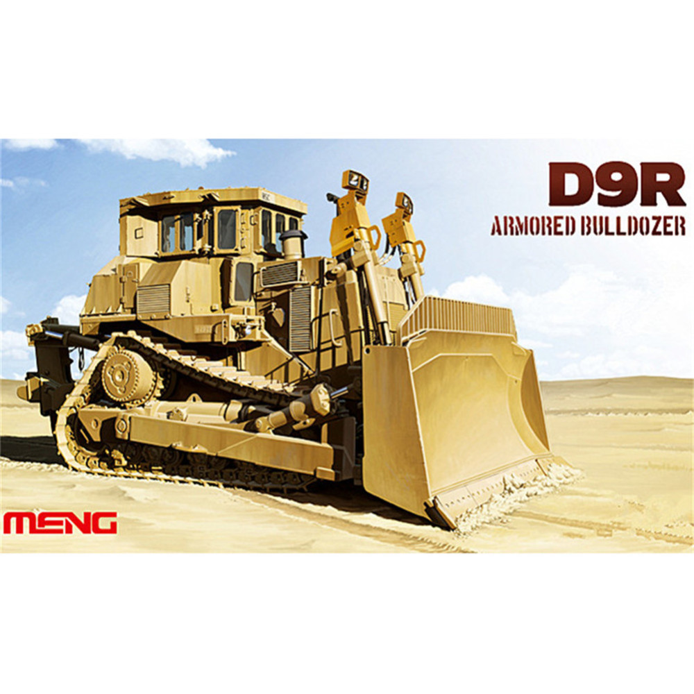 Meng SS002 1/35 D9R Armored Bulldozer Military Plastic Truck AFV Model Building Kits TTH(China (Mainland))