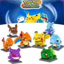 hot Pokemon Figures Model Toys Anime Building Block Child gift for kids Assemblage 3D Pikachu Charizard Japanese Anime Figures