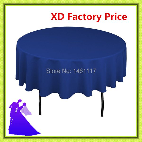 """2015 polyester (70"""") royal blue table cloth hotel table cloth chair cover wedding table cloth(China (Mainland))"""