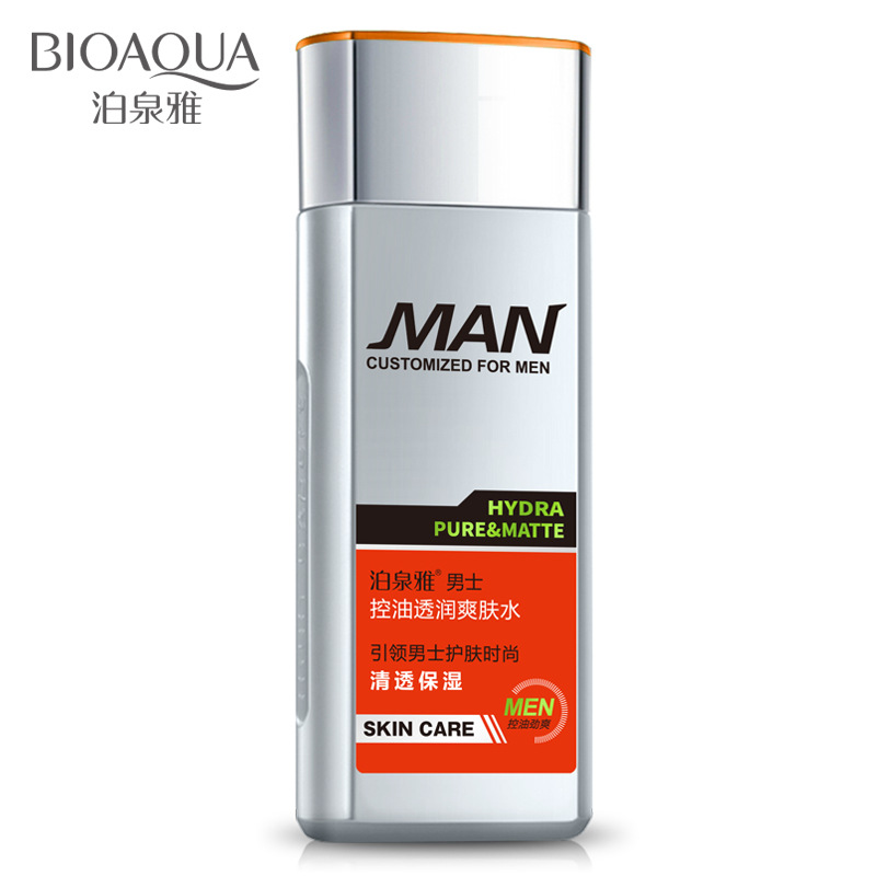 130ml Mens Aftershave Lotion Imported Organic Extract 100% Natural Oil-control Skin Acid-base Balance Fresh Sex Toner PY392