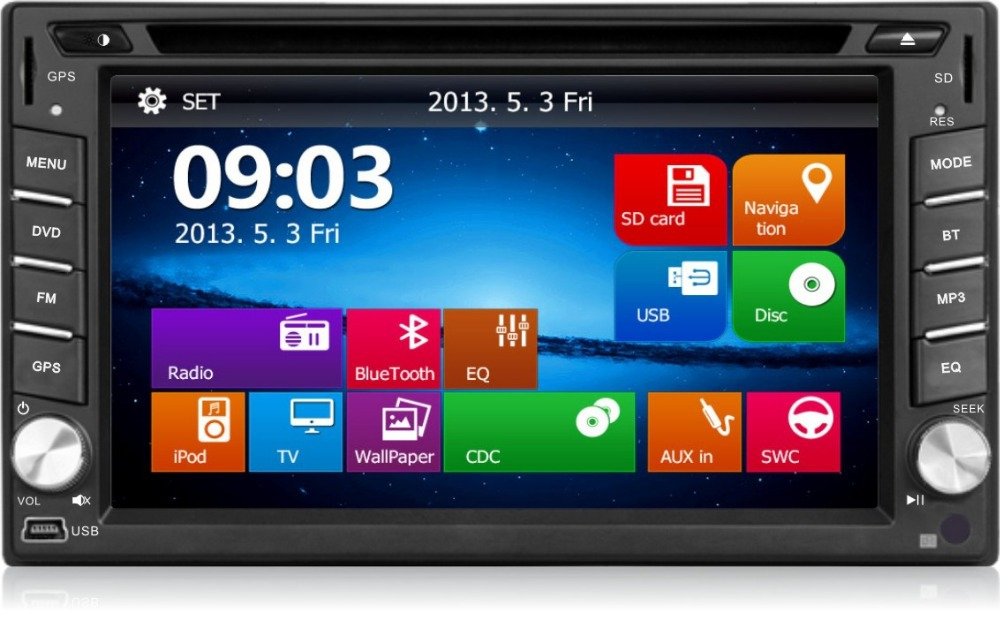 Car DVD GPS Navigation 2DIN Car Stereo Radio Car GPS Bluetooth USB/SD Universal Interchangeable Player RM-LC0350(China (Mainland))