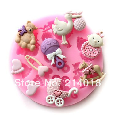 Free shipping Osprey Trojan baby mold fondant Cake decoration molds100% Food grade material No.si384(China (Mainland))