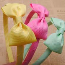 1pc cute grosgrain ribbon bows baby toddler hairbands kids headbands children hair hoop boutique tiara hair accessories for girl(China (Mainland))