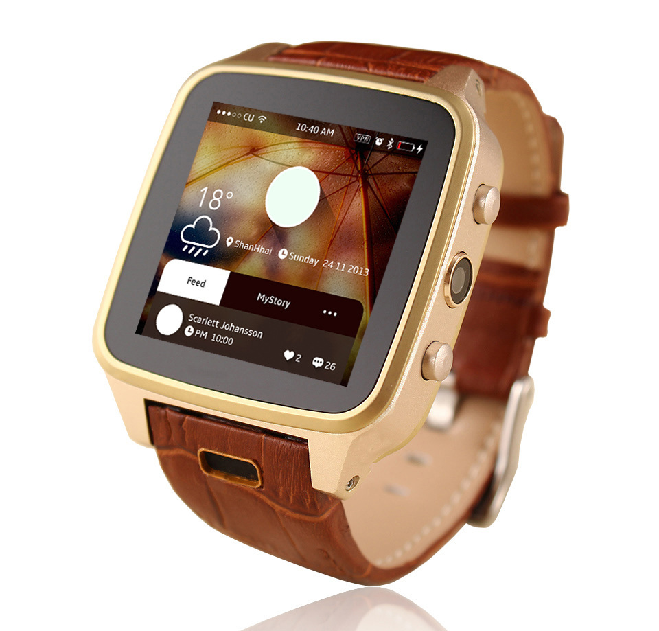 New Smart Watch Bluetooth Wifi Smart Digital Wrist Watches With Camera For Samsung S6/Note 4 HTC Android Phone Smartphones Gold(China (Mainland))