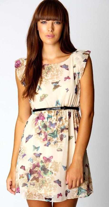 Платье с рукавом на лето