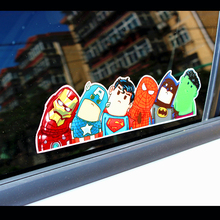 1pc American Super Hero hitchhike Save World Car Styling Motorcycle Decal Cartoon Auto Funny Reflective Car Stickers Accessories