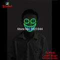 NEW Arrival EL wire Horror smile Masks Halloween Mask glowing EL wire Festival LED Glowing Party