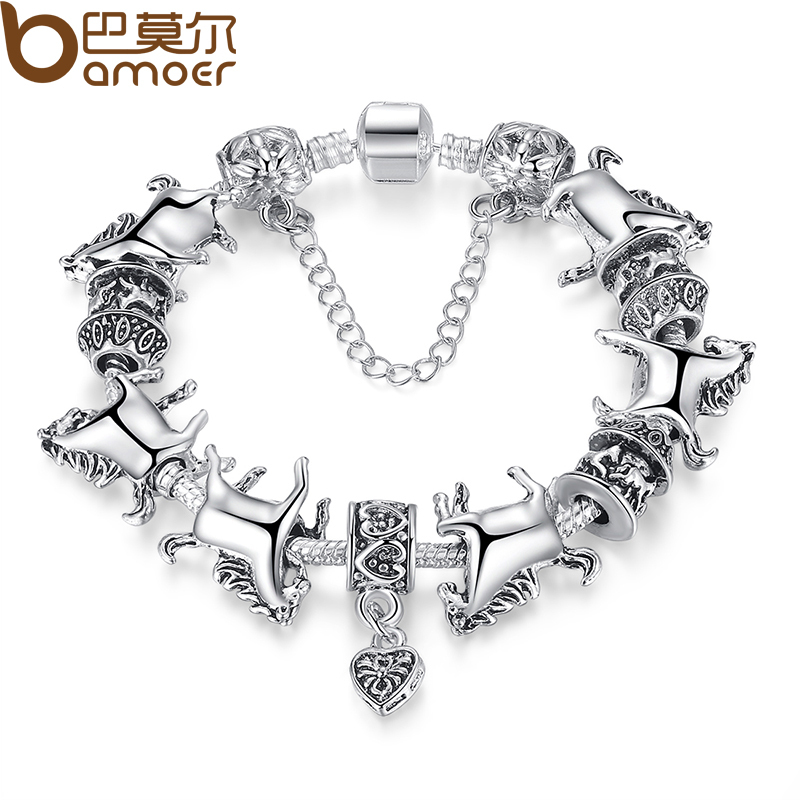 Free Shipping DIY Horse Charm Fit Original Bracelet for Women 925 Sterling Silver Beads Chain Jewelry Gfit XCH1272(China (Mainland))
