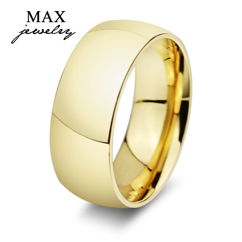 Stainless Steel Lord Of The Rings Ring 8MM Big Ring 18K Gold Filled Fashion Rings For Men&Women 2015 Couple Rings Fine Jewelry