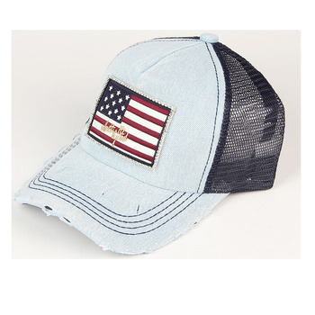 2016 New Summer Cotton Caps Baseball Caps Summer Jean Hats For Women Adjustable Snapback Mesh Stars Strip Diamond Caps Hats