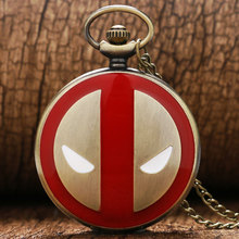 Drop Verschiffen Fullmental Deadpool Alice im wunderland Nightmare Before Christmas Captain America Superman Taschenuhr(China (Mainland))