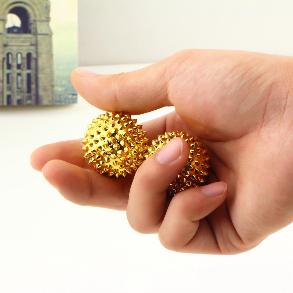 1 пара для прессования акупунктурных точек в вашей ладони магнитный рук иглоукалывание бал иглы массаж