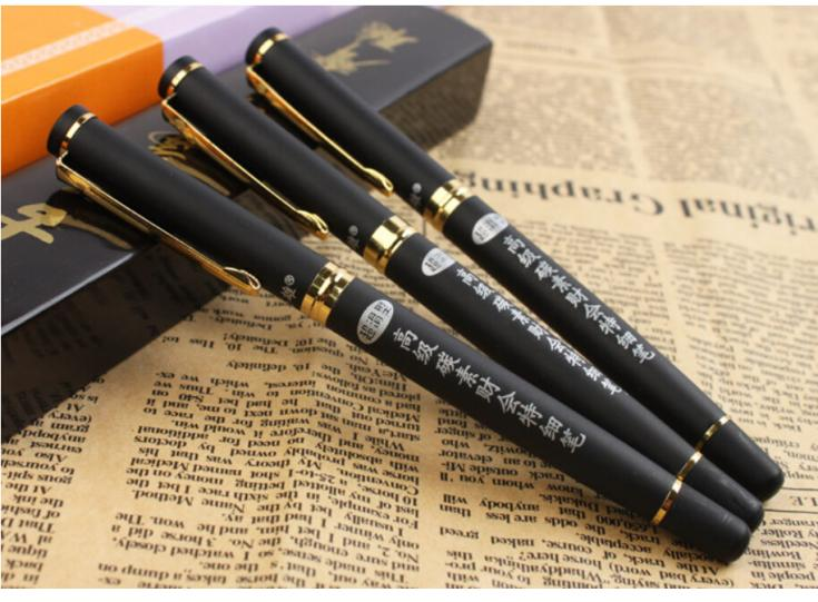 3 pcs/lot Scrub Black Metal Hero 186 Fountain Pen ink Office Supplies for Students Writing Gift Wholesale Free shipping 255<br><br>Aliexpress