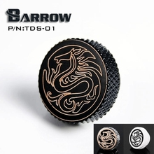 """Barrow White Black Silver G1 / 4 """" Special Edition Black Hand tighten water stop Water cooling fitting TDS-01()"""