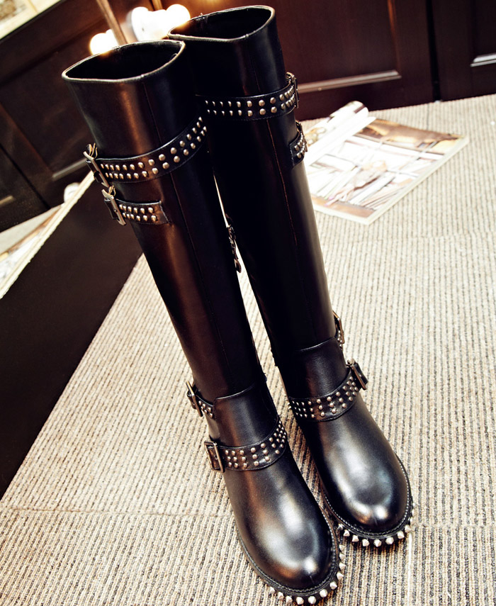 Thigh High Motorcycle Boots - Yu Boots