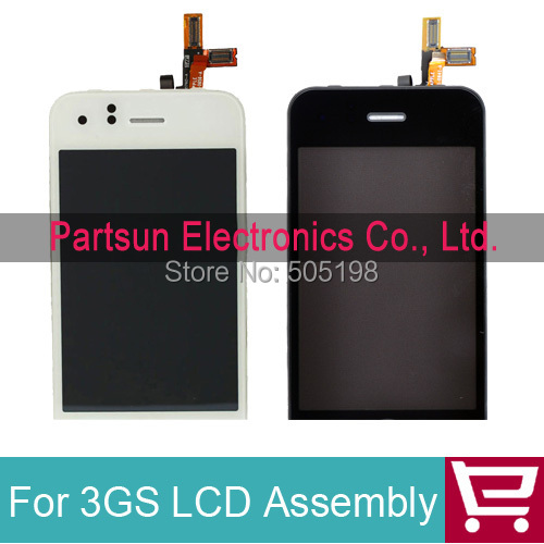 For iPhone 3GS LCD screen Replacement with Touch Screen Digitizer Complete Free shipping(China (Mainland))