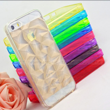 5/5S SE 4'' Prismatic Soft Silicone Cases For iPhone 5 5S SE Case For iPhone5 SE iPhone5S Cover Phone Shell 2016 Newest Arrival(China (Mainland))