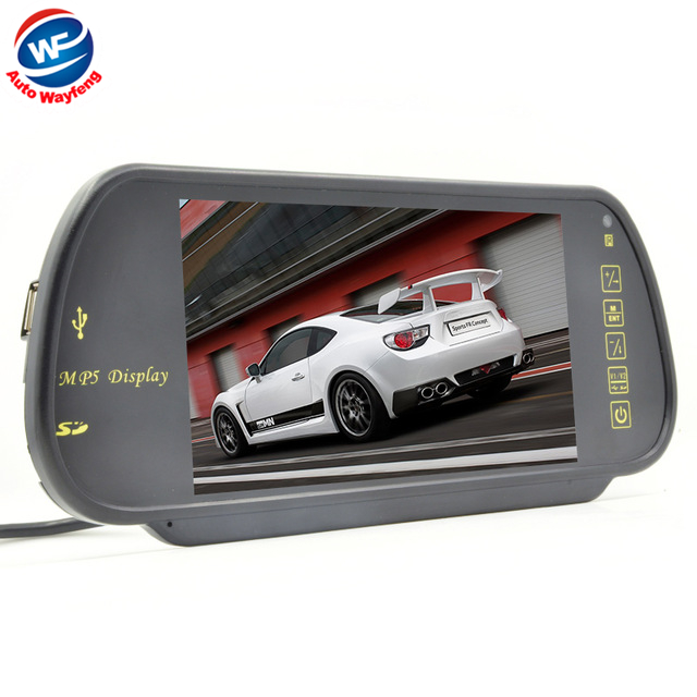 "Free Shippinrg Car HD Monitor 7"" Color TFT LCD Car Rearview Mirror Monitor SD USB MP5 FM Transmitter Car Camera Mirror DVR WF(China (Mainland))"