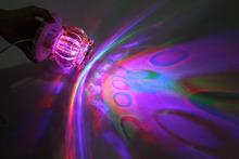 Christmas rotating lights Plug New RGB 3W Crystal Magic Ball Laser Stage Lighting For Party Disco