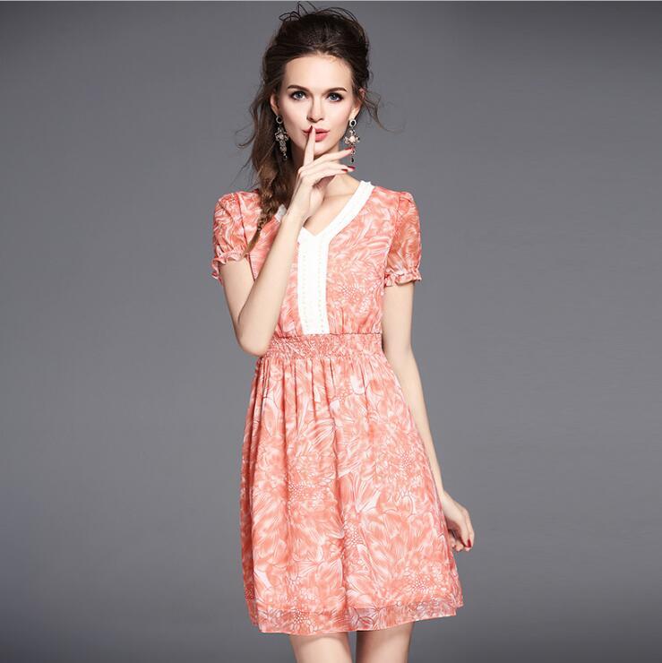 Online Get Cheap Vintage Print Orange Dress -Aliexpress.com ...