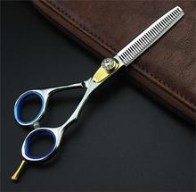 6 inch jewel screws hair thinning scissors professional barber hairdressing shears,custom LOGO - Jasonlee shop store