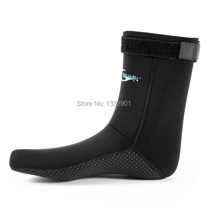 3mm Neoprene Boots Wetsuit Socks Warm Shoes Adults Sailing Diving Surf Booties M-XL(China (Mainland))
