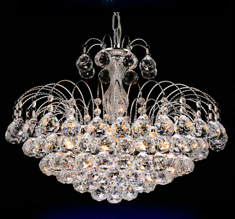 Traditional crystal chandeliers lighting silver palace light luxury hotel lamp for bedroom - Traditional crystal chandeliers ...