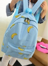 Cute Girl Banana Pattern Printing Women Backpacks Traveling Outdoor Pratical School Bags Unique Fashion Canvas Backpack