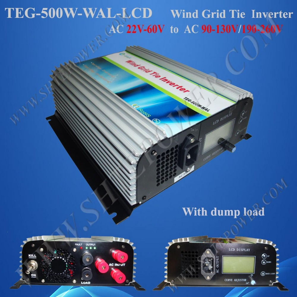 3 phase inverter AC 22-60v to AC 110V/220V wind turbine inverter with lcd and dump load(China (Mainland))