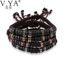 Wood Bead Bracelets for Men Jewelry 18cm to 28cm Adjustable Size Beads anil arjandas style Charm Bracelet PB57(China (Mainland))