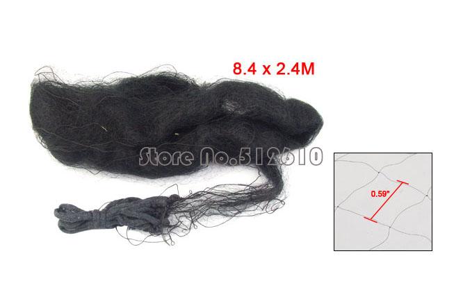 Best Promotion Wholesale Price Ponds Orchard Black 8.4 x 2.4m Meshy Enclosure Anti Bird Net 5 PCS/lot(China (Mainland))