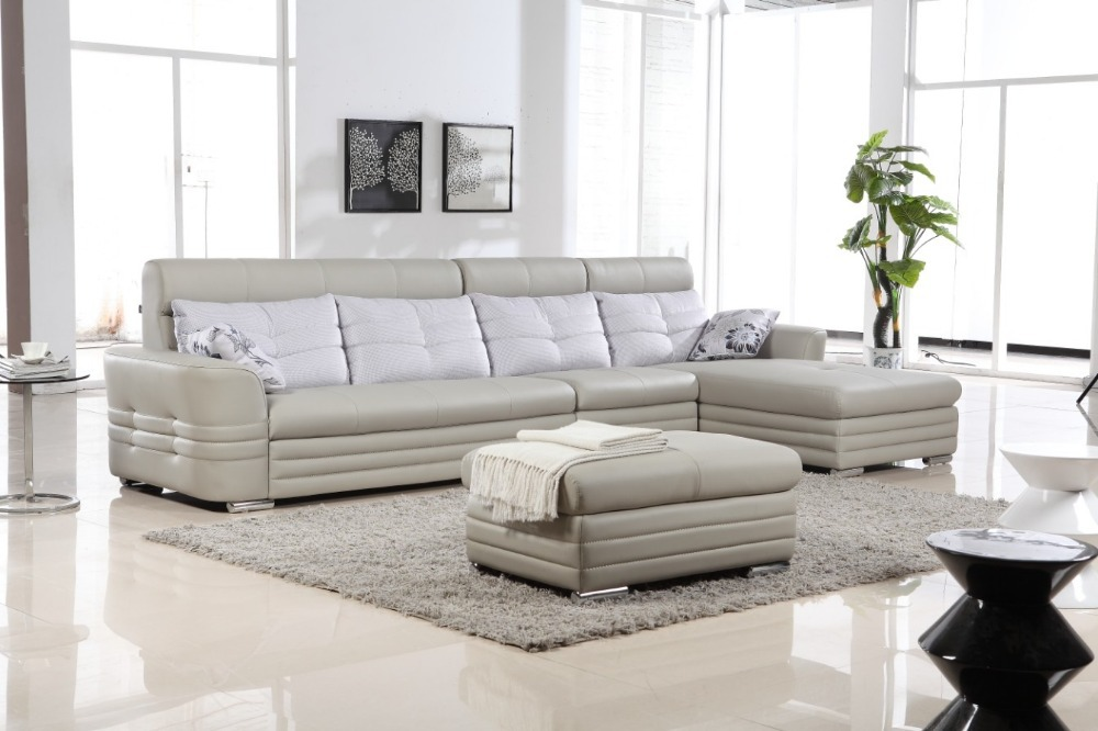 Modern new design leather corner sofa set 2813