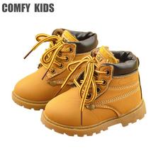 Cómoda niños Moda de invierno Niño Botas de Nieve de Cuero Para Niñas muchachos Caliente Martin Botas Zapatos Casuales Niño de la Felpa Del Niño Del Bebé zapato(China (Mainland))
