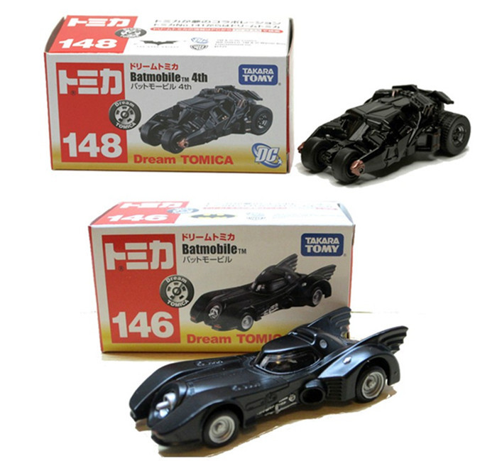 2pcs/set New TOMY Tomica Marco Batman Car 4th No146/148 Batmobile Cars Diecast Metal Toy For Baby Kids Boy(China (Mainland))