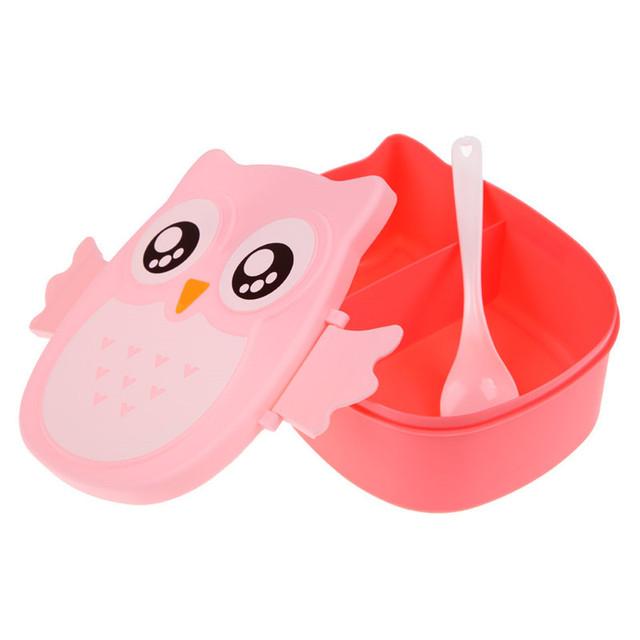 Cartoon Owl Lunch Box