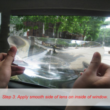 Wide Angle Fresnel Lens Car Parking Reversing Sticker Useful Enlarge View Angle Optical Fresnel Lens Reversing