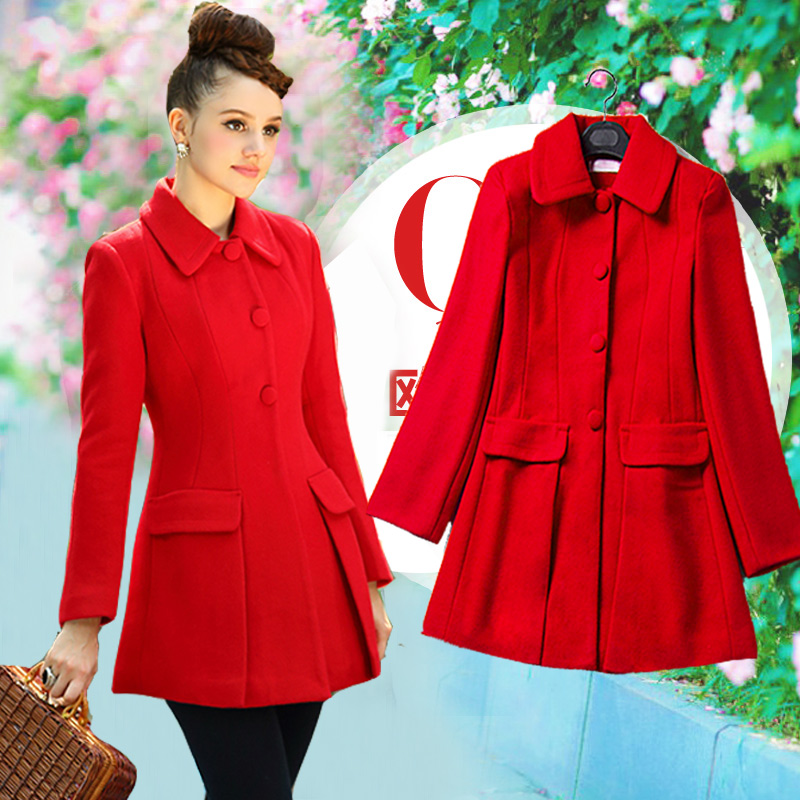 Red Wool Coat Womens