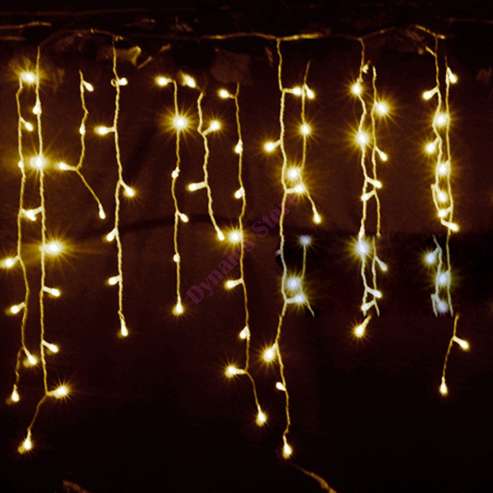 High Quality 3.5m Droop 0.3-0.5m curtain icicle string lights 220V New year christmas led Lights Garden Xmas Wedding Party 34(China (Mainland))