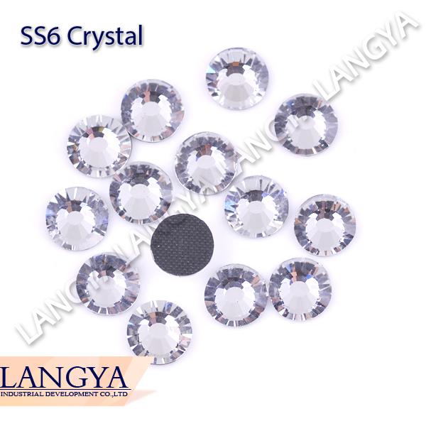 Flatback Bright High Quality Glass 1440pcs SS6 Crystal Hotfix Rhinestones For Wedding Dress Accessories(Hong Kong)