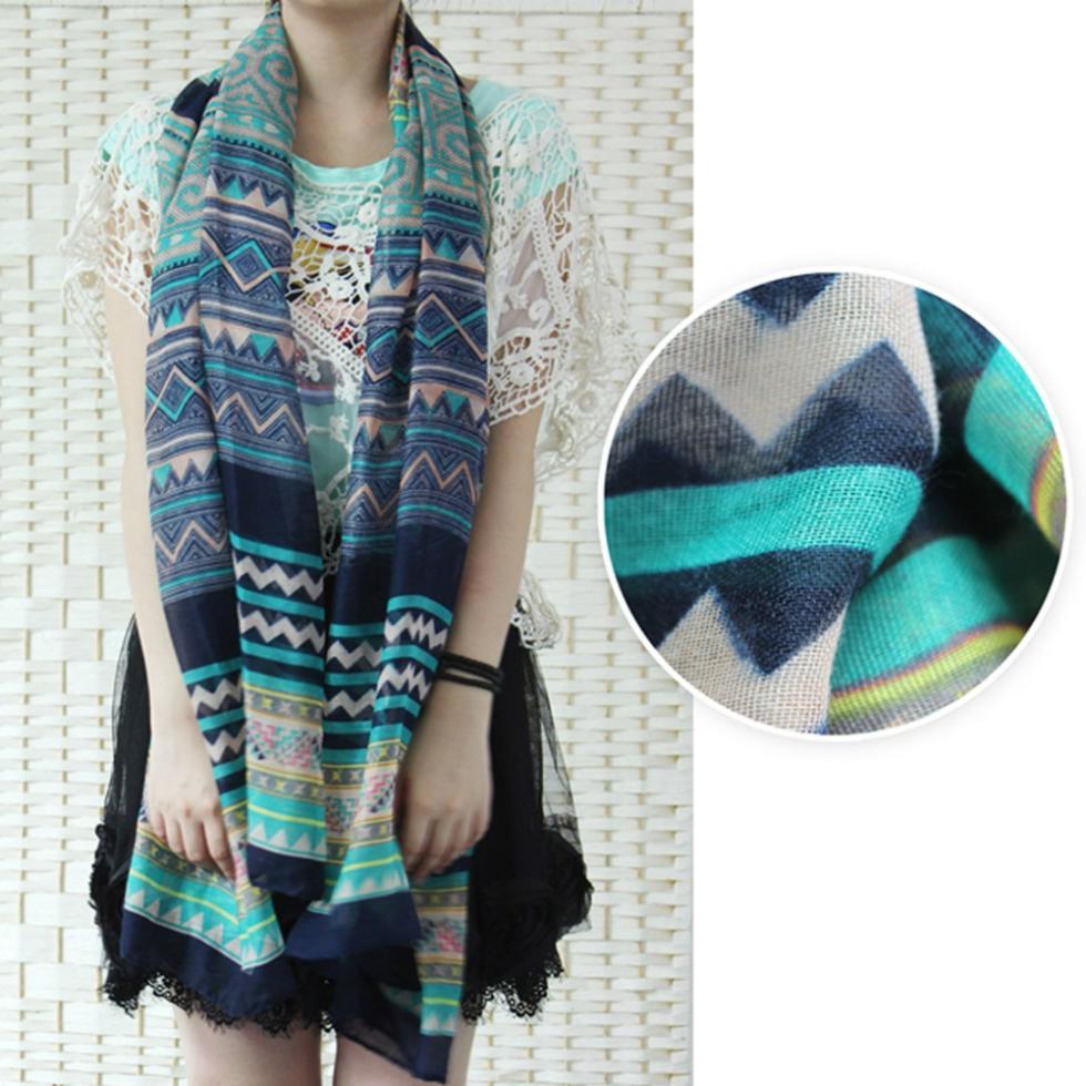 primavera verano bufanda de seda del mantn de las bufandas de bohemia hermosa retro gasa suave