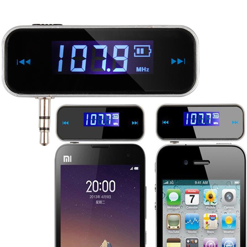 Mini Wireless Transmitter 3.5mm In-car Music Audio FM Transmitter For iPhone 4 5 6 6S Plus Samsung iPad Car MP3 Transmitter(China (Mainland))