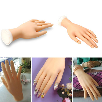 Free Shipping Hot Sales New Practice Hand Model Flexible Movable Soft Fake Hand for Nail Art Training hv