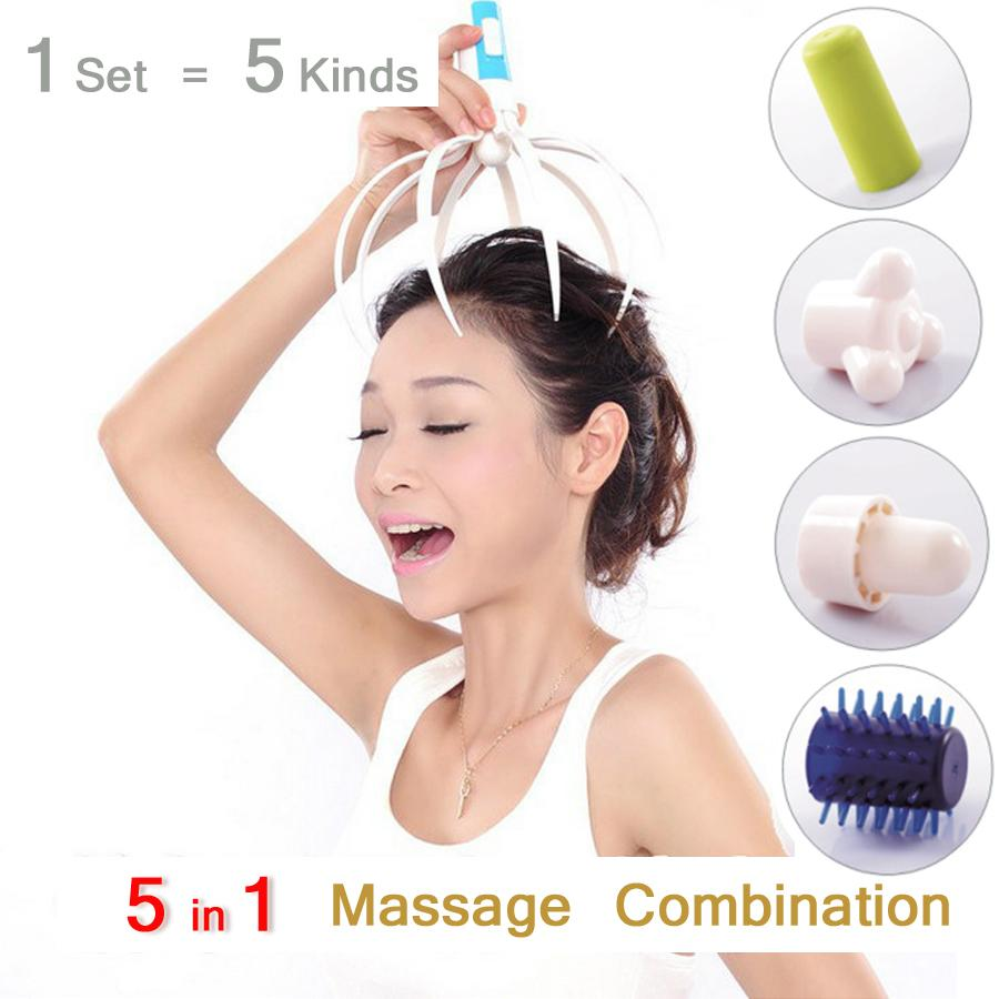 5 In 1 Electric Head Massager Brain Massage Relax Octopus Equipment Stress Release Easy Acupuncture Points Health Care C735  5 In 1 Electric Head Massager Brain Massage Relax Octopus Equipment Stress Release Easy Acupuncture Points Health Care C735