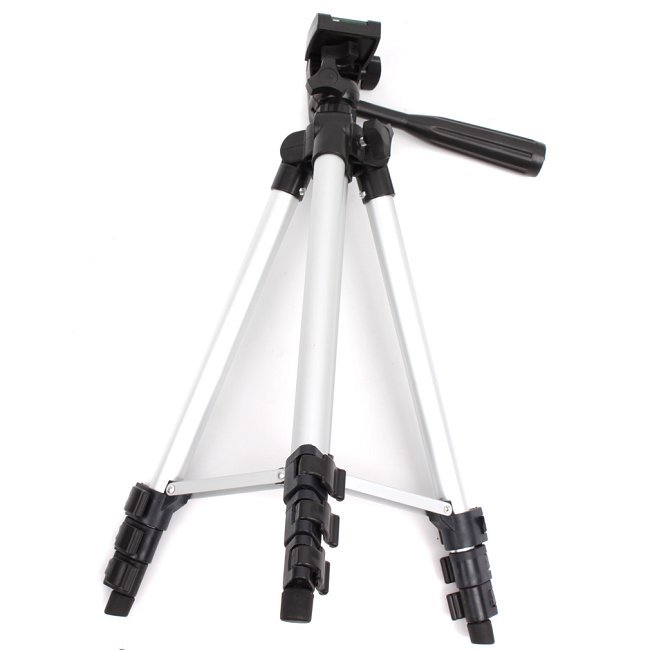 1pc/lot Flexible 4 Sections Tripod 1070mm Portable Universal Professional AL Tripod For DSLR Camera Camcorder RD672205(China (Mainland))