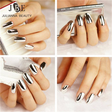6 X New Mirror Fashion Nail Art Stickers 3D Beauty Gold Silver Bright Decals Nails Patch On Tips French Manicure Makeup Set(China (Mainland))