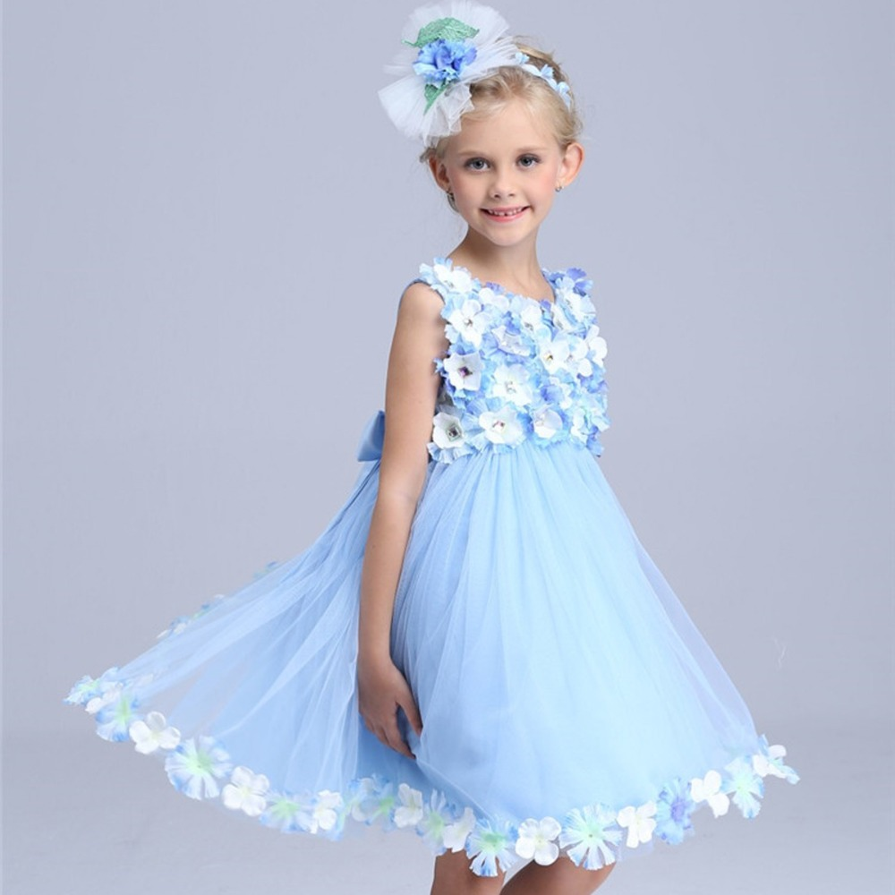 flower fairy princess costume girls summer dress 2016