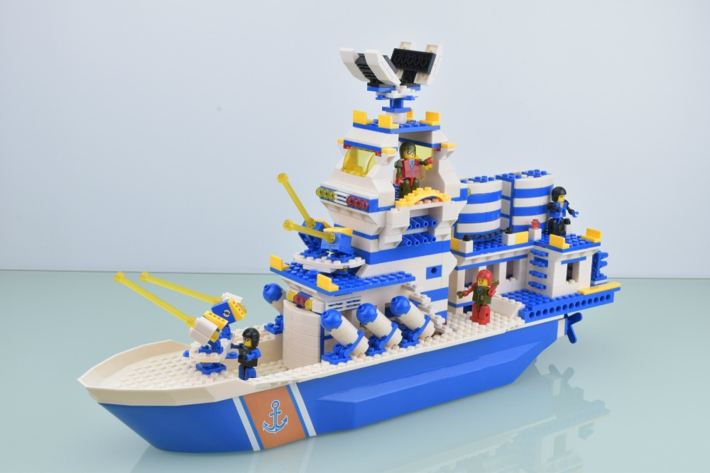 Military sailing ship model series 81089 children fight to defend warships DIY creative model toy building blocks puzzle loaded(China (Mainland))