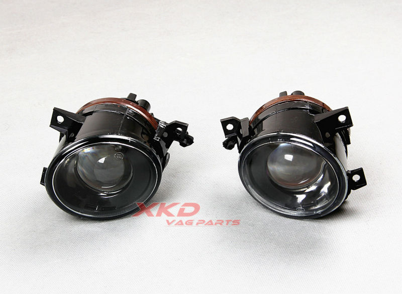 Pair Front bumper Projection Convex lens Fog Lights Lamps Bulb VW Jetta Golf MK5 GTI Rabbit 1T0 941 699 700